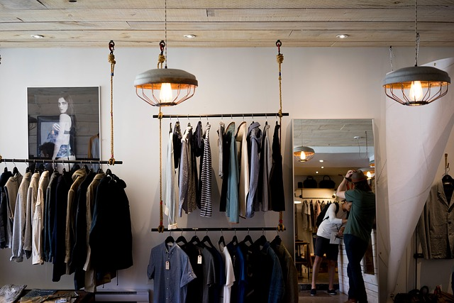obchod s oblečením pro muže